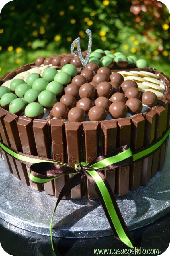 Supreme Chocolate Birthday Cake White Chocolate Frosting