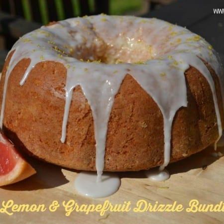 Lemon Grapefruit Drizzle Bundt Cake