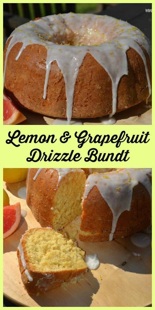 Lemon & Grapefruit Drizzle Bundt Cake