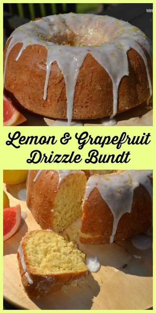 Lemon & Grapefruit Drizzle Bundt Cake