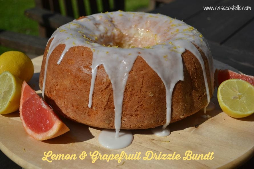 Lemon Grapefruit Drizzle Bundt Cake