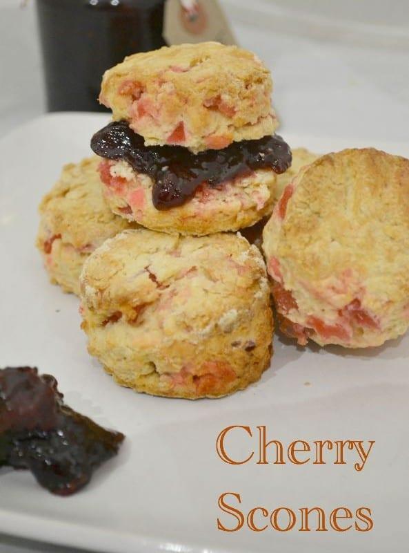 Easy Cherry Scones #Bakeoftheweek
