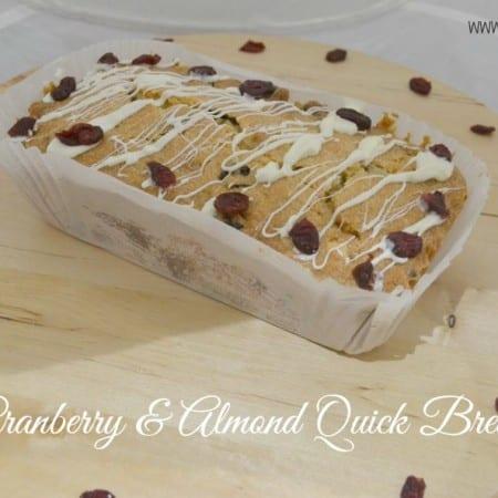 Cranberry ALmond Speedy Bread Recipe
