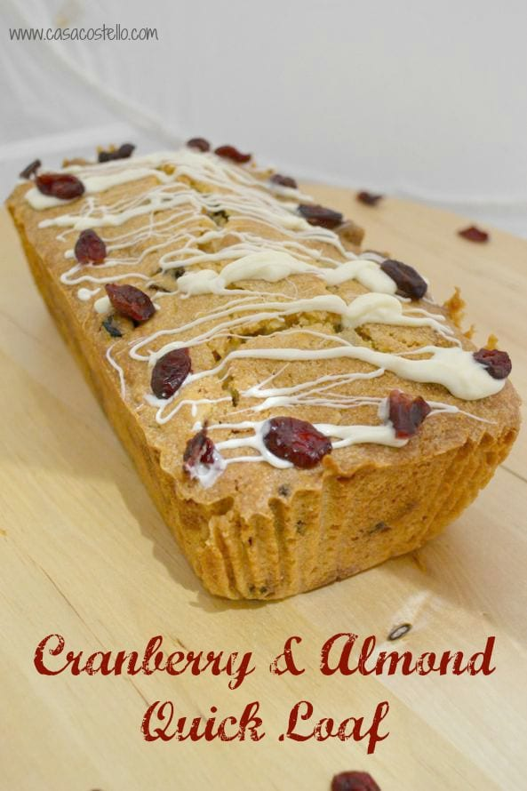 Cranberry Marzipan ALmond Quick loaf