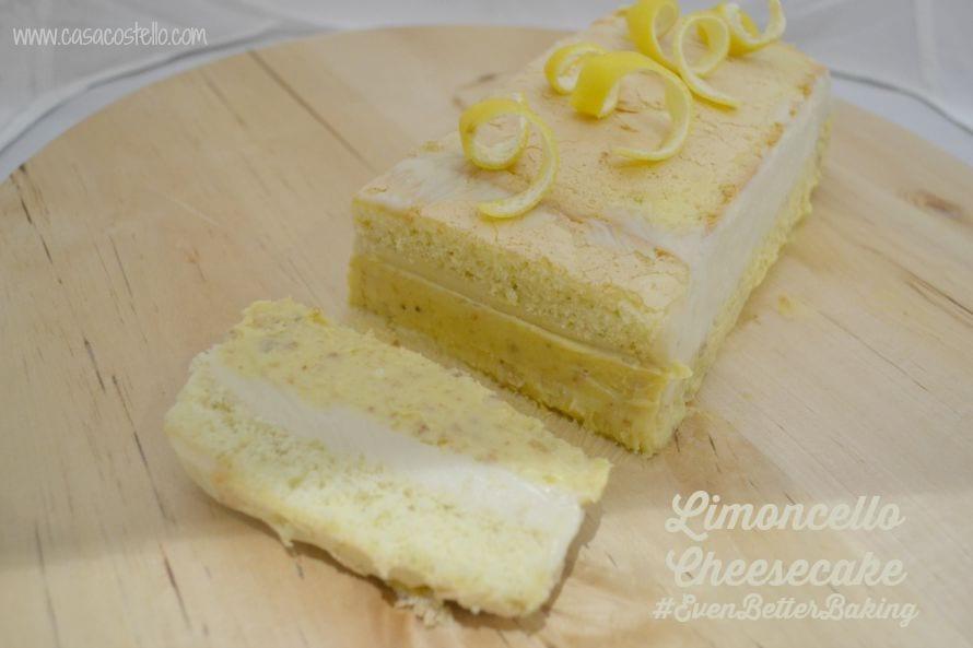 Limoncello Cheesecake Slice