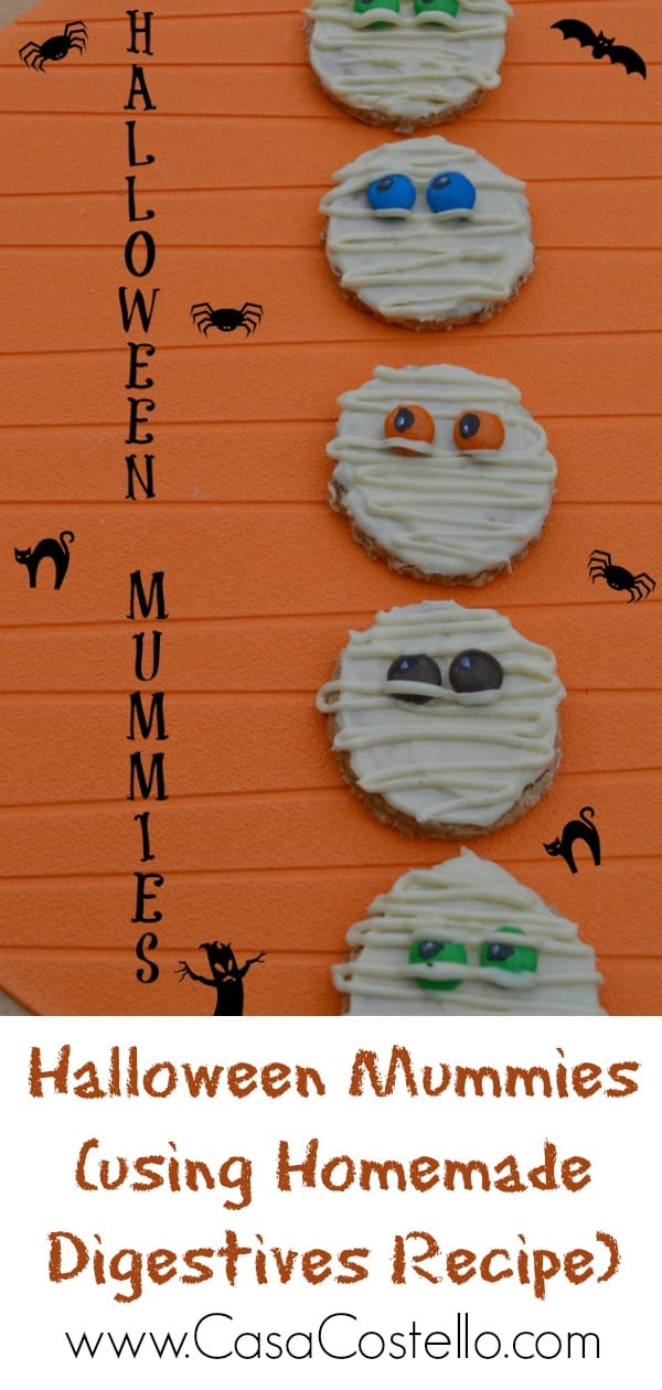 Halloween Mummies using Homemade Digestives Recipe