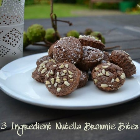 3 Ingredient Fudgy Nutella Brownie Bites – Secret Recipe Club