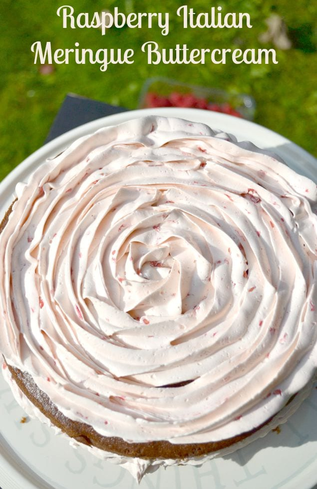 Raspberry Italian Meringue Buttercream