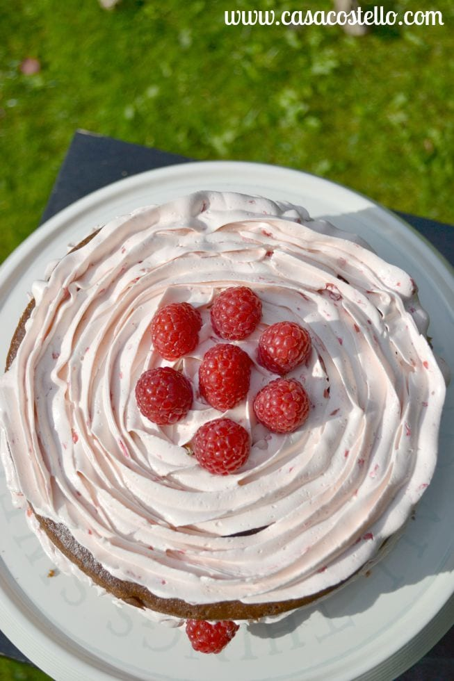 Raspberry Mississippi Mud Cake Italian Meringue Buttercream
