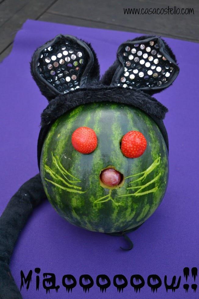 Halloween Melon Cat Carving