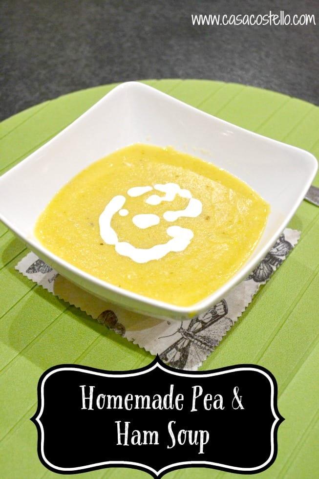 Homemade Pea Ham Soup
