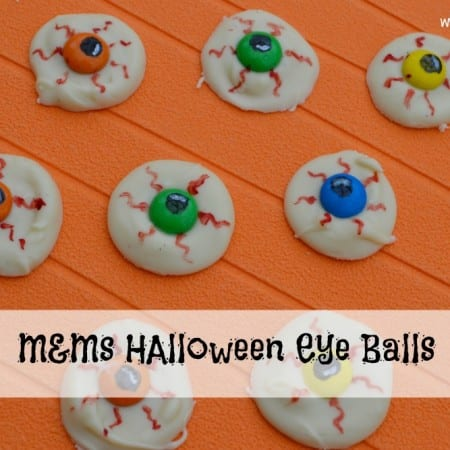 White Chocolate M&M's Halloween Eye Balls