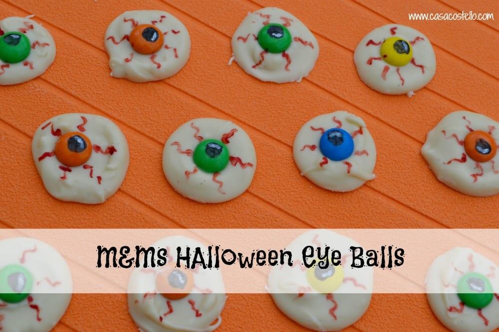 White Chocolate M&M's Halloween Eye Balls