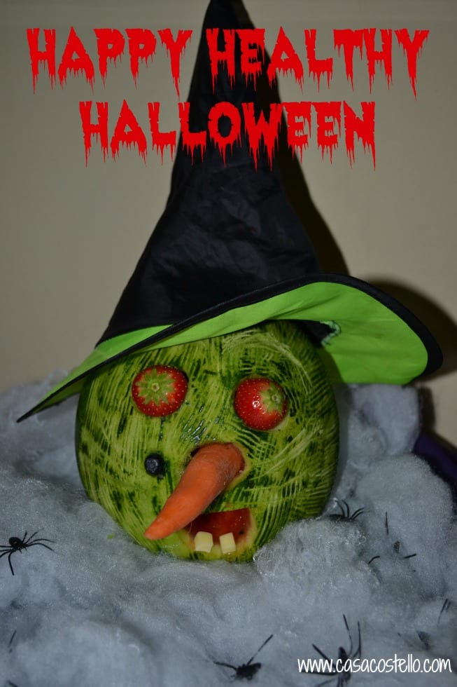 Melon Witch carving Halloween Healthy Display