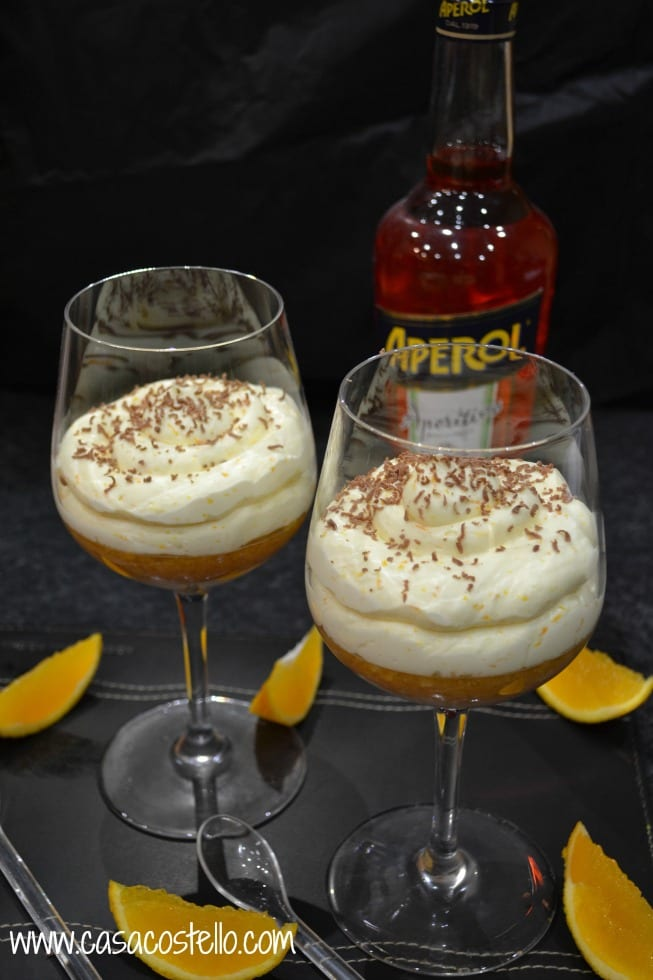 Aperol Individual Orange Trifles
