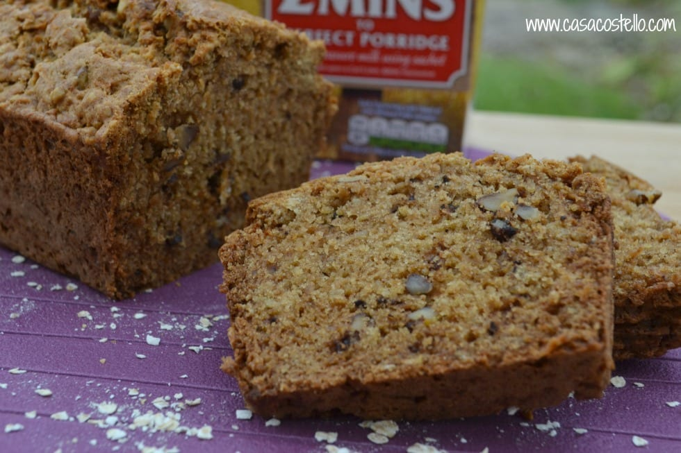 Apple & Walnut Oat Loaf #FeelingFibrant Oats & Veg Box Giveaway