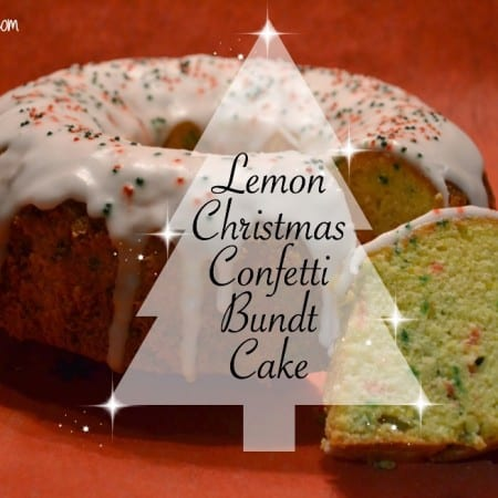 Lemon Christmas Confetti Bundt Cake