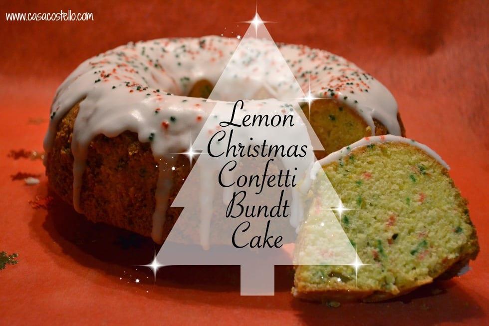 Lemon Christmas Confetti Bundt Cake