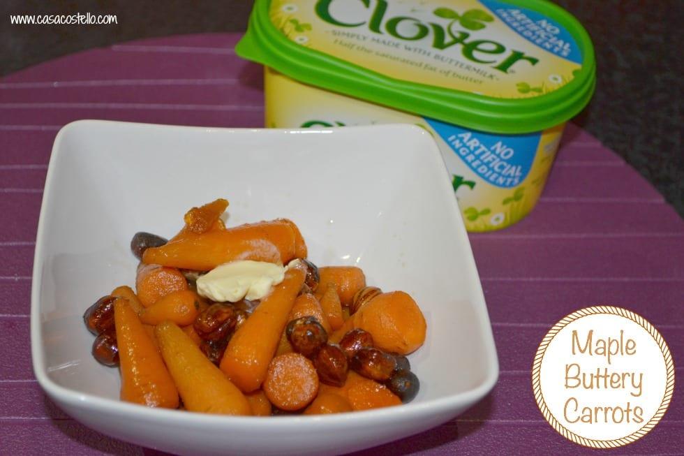Maple Buttery Hazelnut Carrots