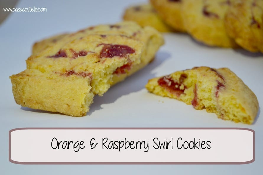 Orange & Raspberry Swirl Cookies #Bakeoftheweek