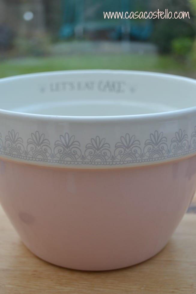 Pink Cake Bowl George