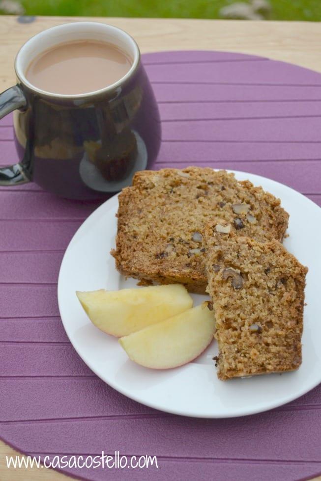 Tea & Walnut Apple Oat Loaf Cake