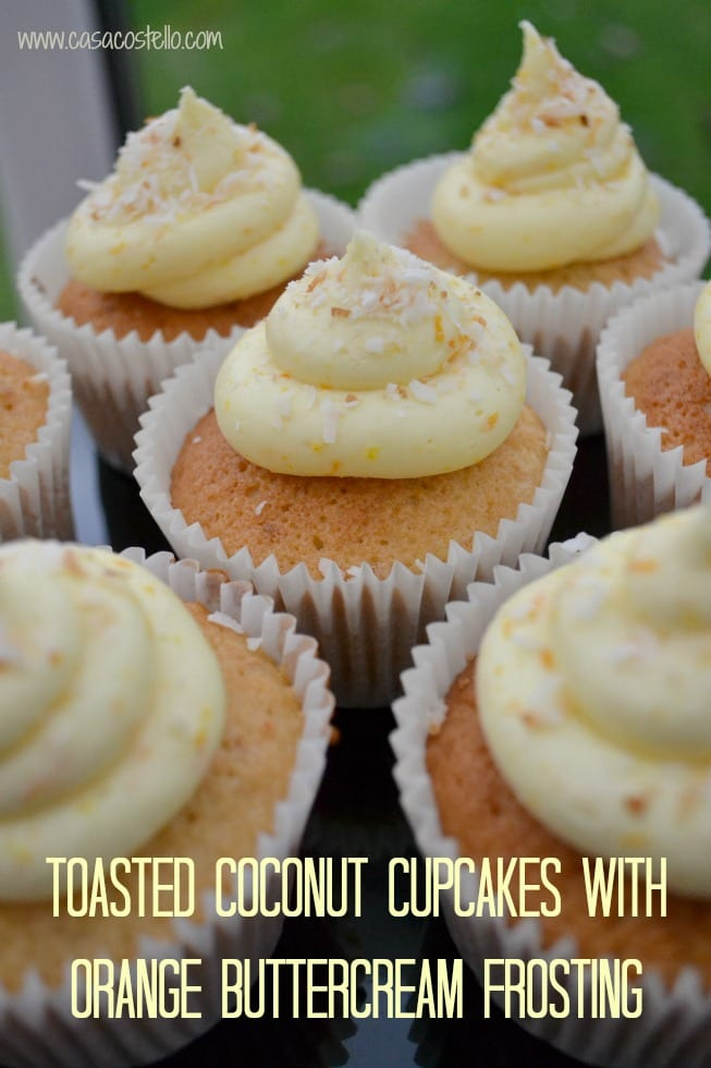 Toasted Coconut Cupcake with Orange Buttercream Frosting