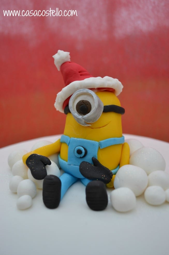 Christmas Minion Cake Topper
