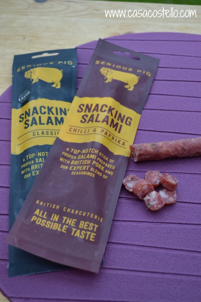 Snacking Salami Serious Pig