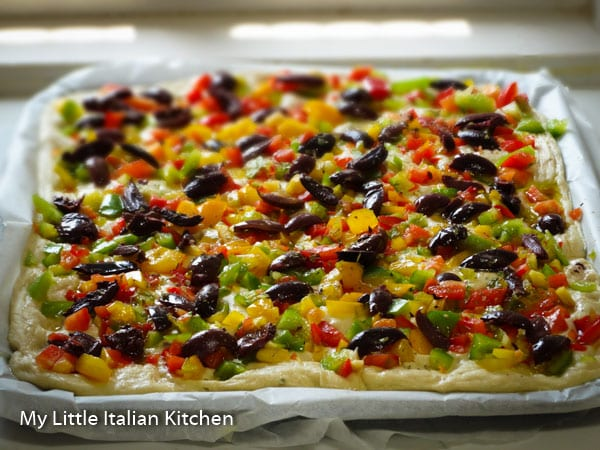 Olive Peppers Focaccia