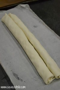 rolling pastry palmiers