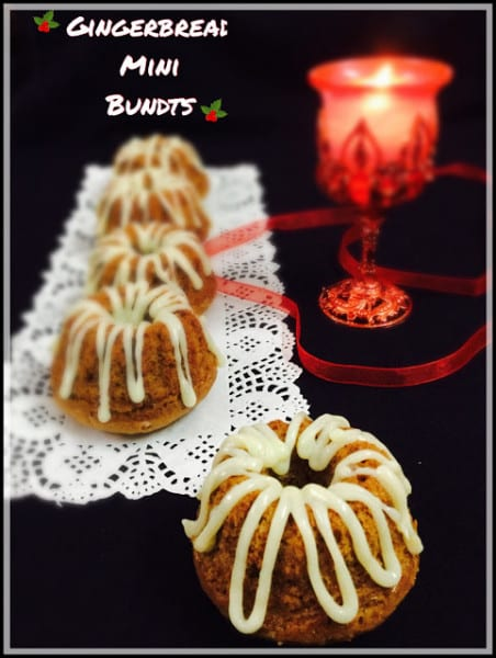 Gingerbread Mini Bundt Cakes