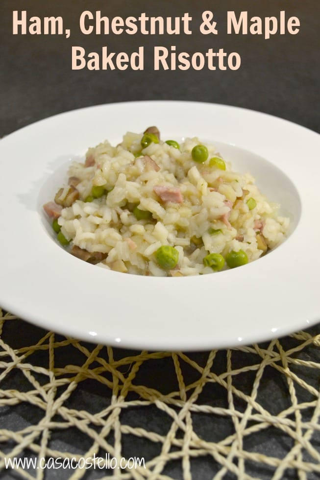 Ham, Chestnut Maple Risotto Oven Baked
