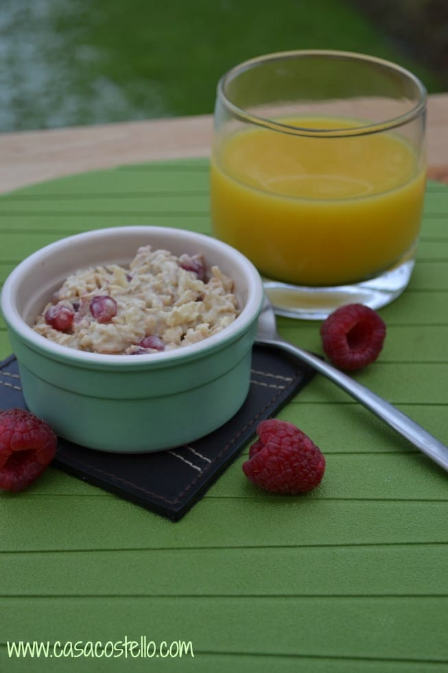 Pomegranate Overnight Oats Bircher Muesli