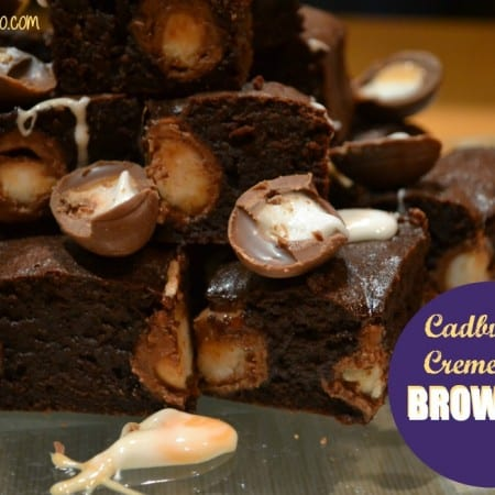 Creme Egg Brownies #Bakeoftheweek