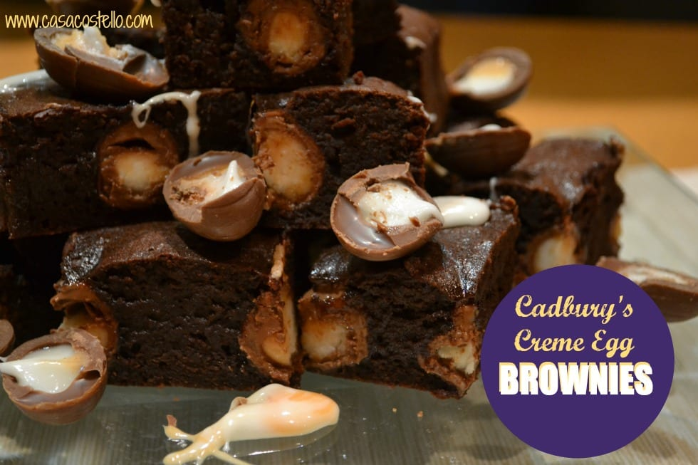 Cadbury's Creme Egg Brownies CasaCostello