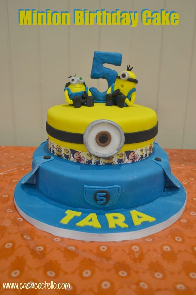 Minion 5th Birthday Cake
