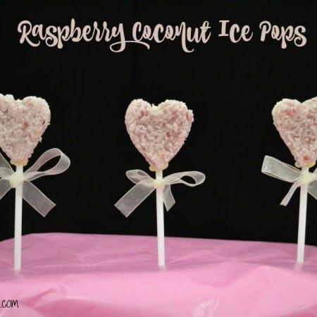 Valentine's Raspberry Coconut Ice Pops