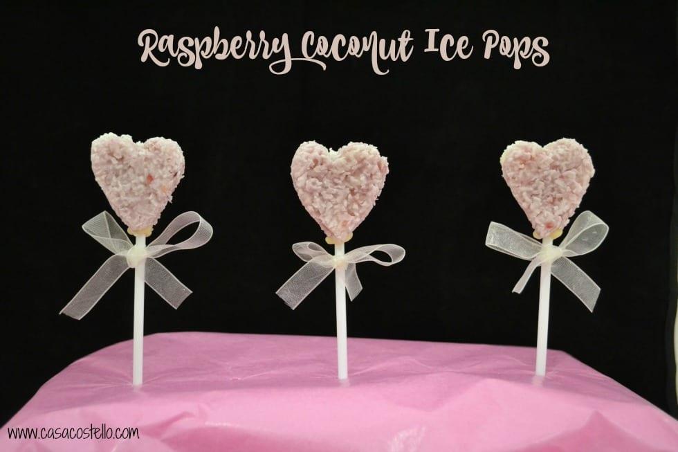 Raspberry Coconut Ice Pops