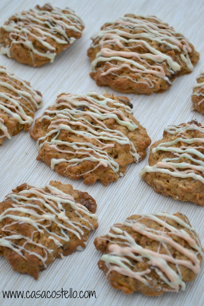 Drizzled Carrot Cake cookies