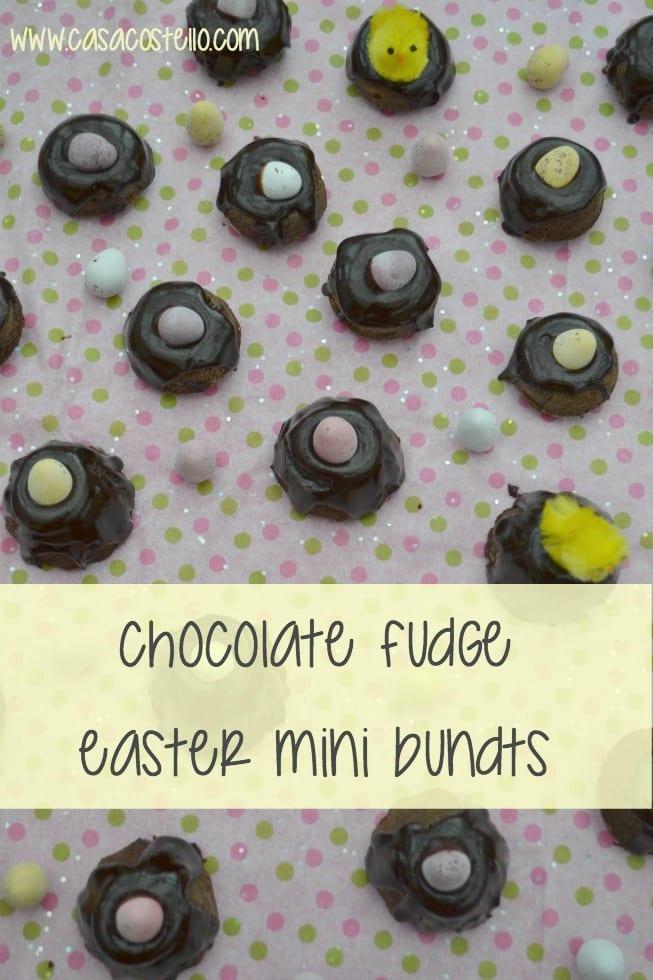 Chocolate Fudge Easter Mini Bundts