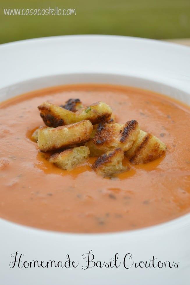 Homemade Basil Croutons