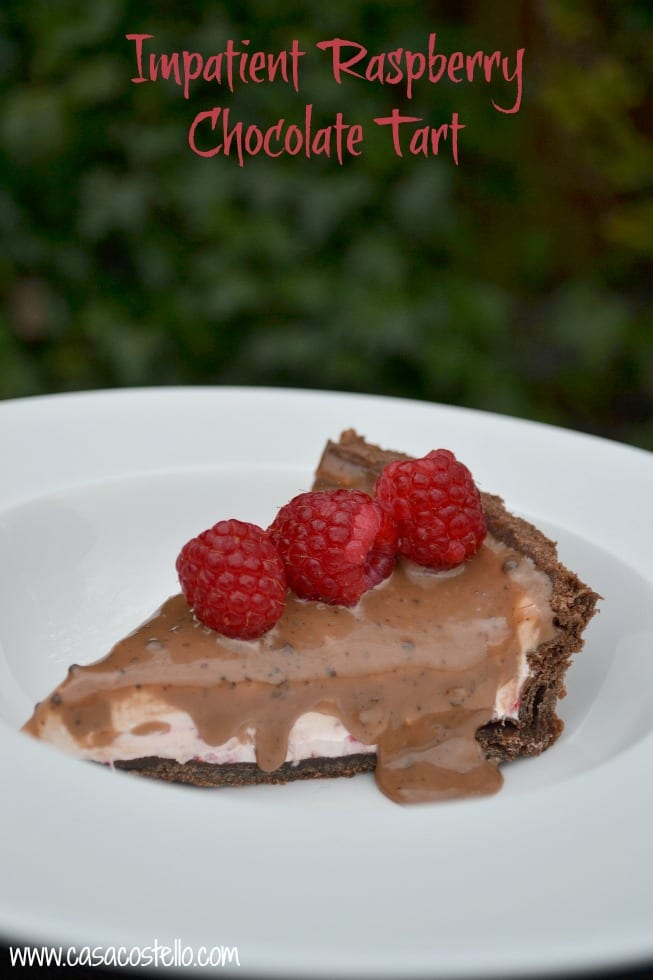 Impatient Raspberry Chocolate Tart