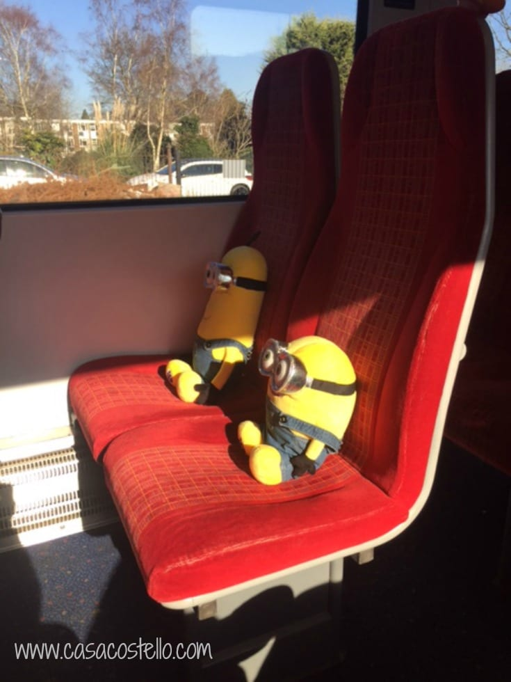 Minions on the train
