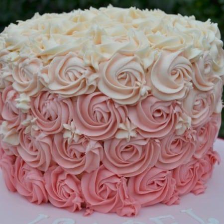 Pink Rose Birthday Cake #BakeoftheWeek