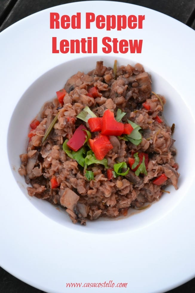 Red Pepper Lentil Stew