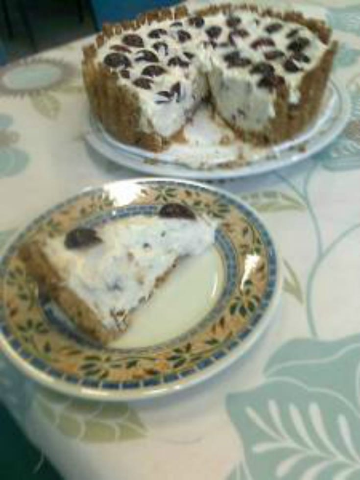 Coconut Cherry Cheesecake
