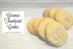 Caramac Thumbprint Cookies