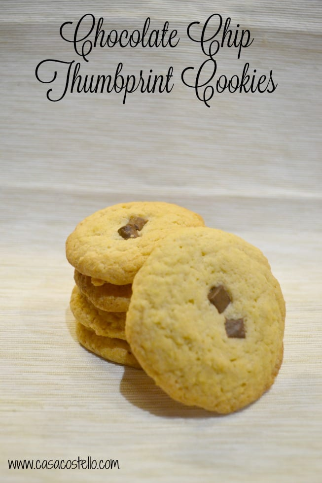 Chocolate Chip Thumbprint Cookies