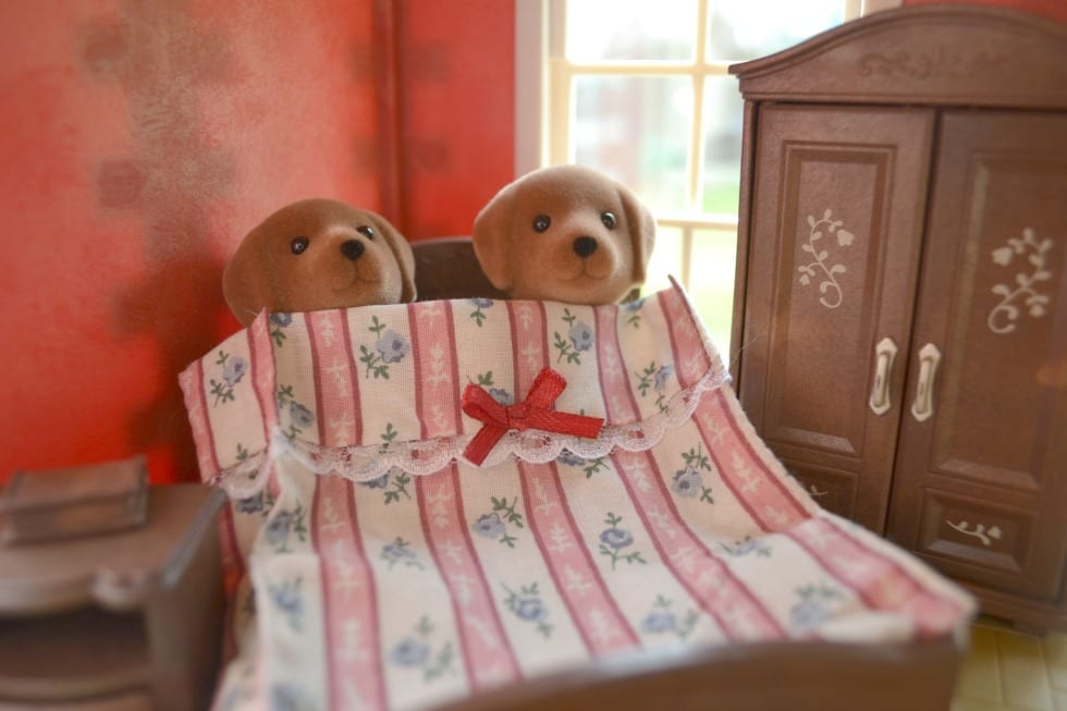 Dogs Bed Sylvanian Family Set